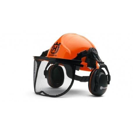 Casca de protectie cu antifoane Husqvarna Functional (Orange)
